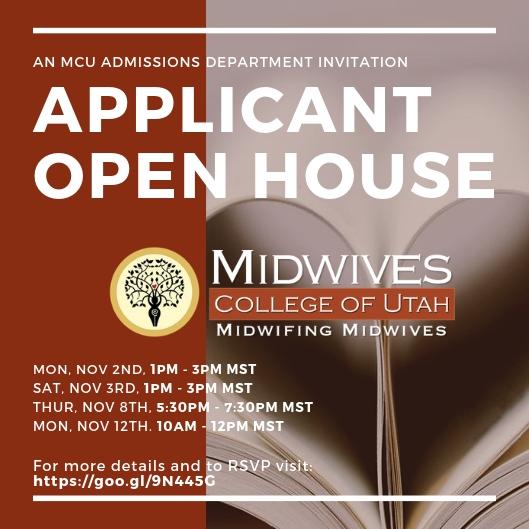 Applicant open house invite graphic